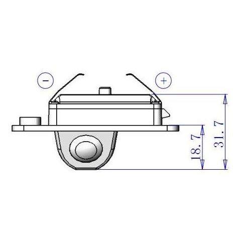 Автомобильная камера заднего вида для Audi A4/A6 Превью 1