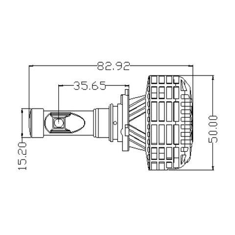 Набор светодиодного головного света UP-6HL (9005 (HB3), 3000 лм, совместим с CAN-шиной) Превью 3