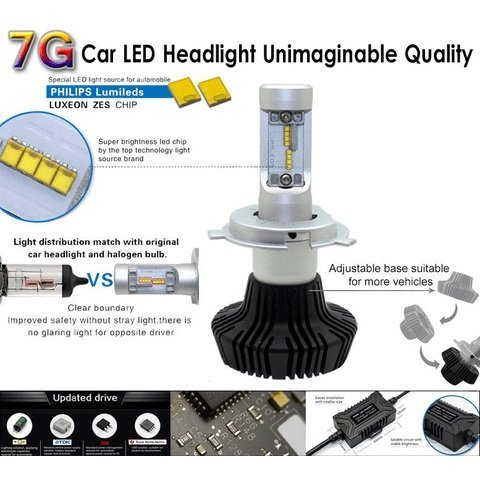 Car LED Headlamp Kit UP-7HL-H16W-4000Lm (H16, 4000 lm, cold white) Preview 3