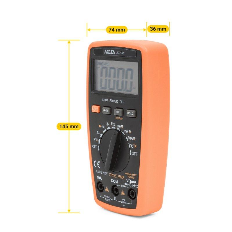 Кишеньковий цифровий мультиметр Accta AT-180 Зображення 5