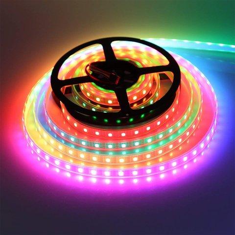 Світлодіодна стрічка RGB SMD5050, WS2815 (чорна, з управлінням, IP20, 12 В, 30 діодів/м, 1 м) Прев'ю 2
