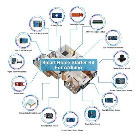 Набор Arduino Умный дом (на базе UNO R3) + руководство пользователя Превью 3